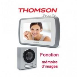 """Thomson Interphone vidéo couleur Ecran 7"""" Mémoire passages"""